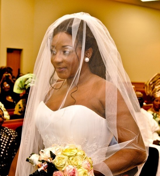 LOVELY INI EDOS WEDDING PICTURES LOVE THE LACE FRONT HAIR LOOK